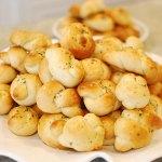 Garlic Challah Knots