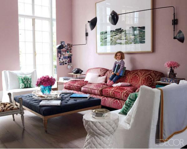 elle decor pink room