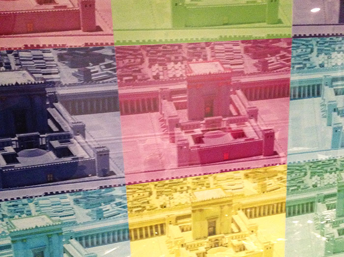 diy beit hamikdash art with picture of second temple