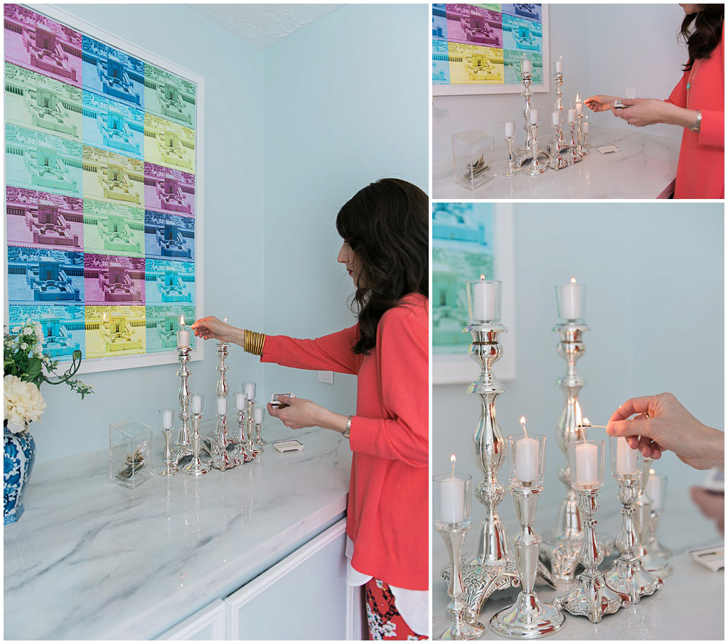 Shabbat candle lighting by Jewish Latin Princess