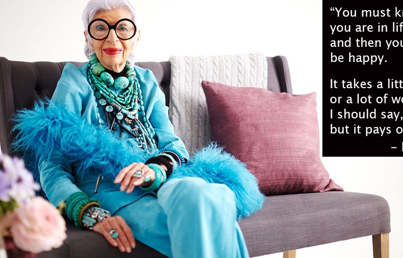 Bubbie's Advice by Fashion Icon Iris Apfel