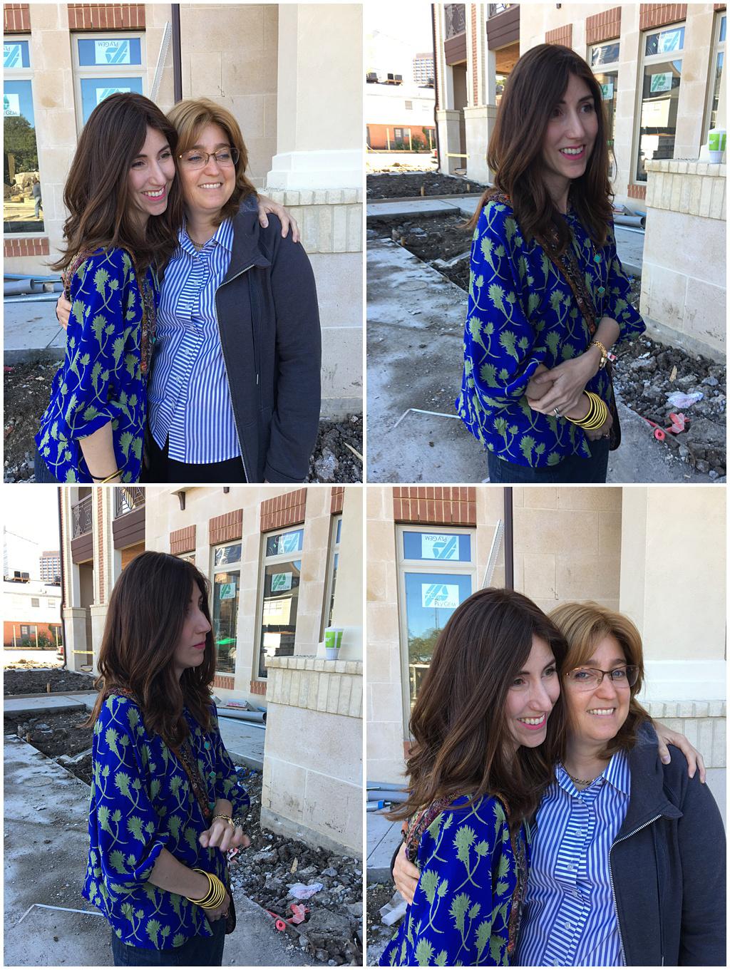 Yael of Jewish Latin Princess hands donation to Aishel House