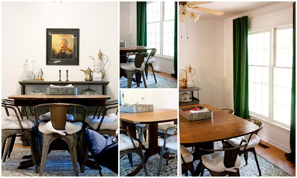 Vintage Dining Table in Miri Nadler's home