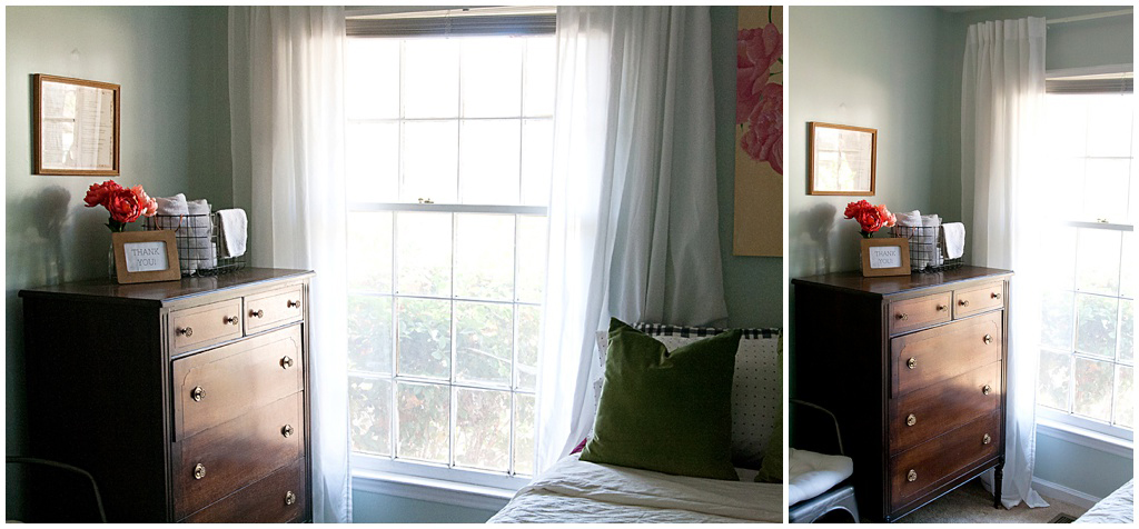 Sherwin Williams Sea Shell in Guest Bedroom by Miri Nadler