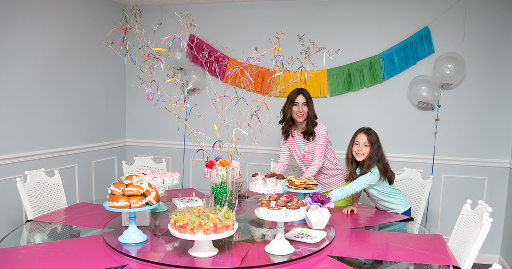 Girl's Birthday Party Set Up by Yael from Jewish Latin Princess