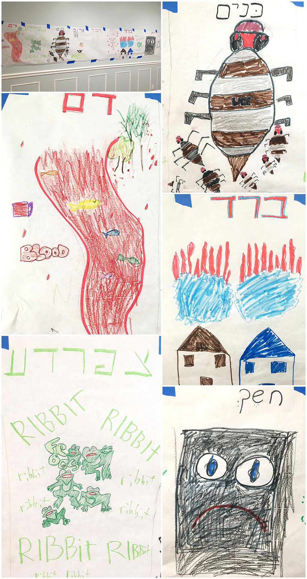 Ten Plagues Children's Art