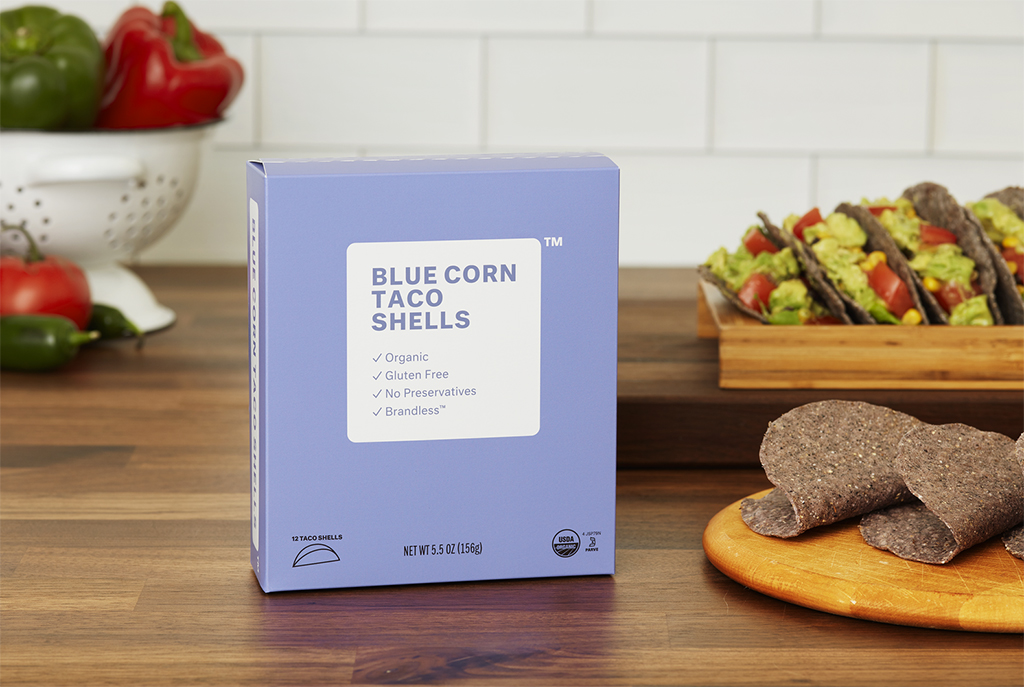 Brandless Organic Blue Corn Taco Shells