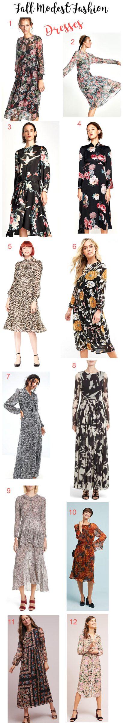 Modest Fall Dresses