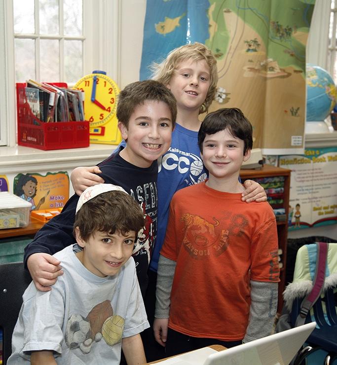 Children in a Jewish day school classroom