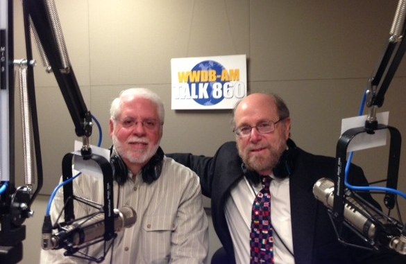 Rabbi Address and psychologist Michael Freidman in the WWDB studios