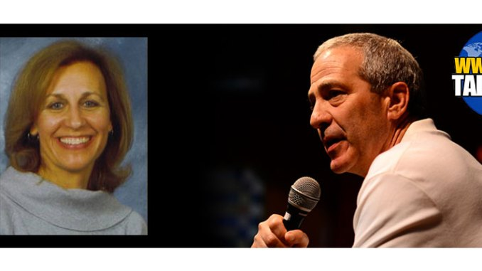 Elizabeth Howard, left, and Rabbi Rex Perlmeter, right, are the guests on the August 26 edition of Boomer Generation Radio.