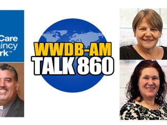 Guests on the December 9, 2014 Boomer Generation Radio show are, clockwise from lower left, Rev. Eric Hill of the Healthcare Chaplaincy Network; Janet Davis, and Linda Hnatow, regional directors of the Pennsylvania Restraint Reduction Initiative