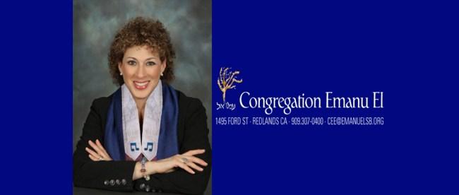 Cantor Jennifer Bern-Vogel of Congregation Emanu-El, Redlands, CA