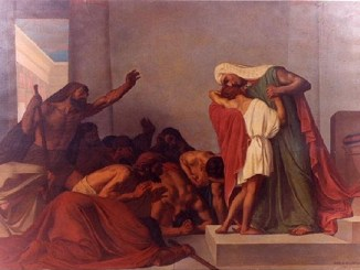 """""""Joseph recognized by his brothers,"""" León Pierre Urbain Bourgeois, 1863"""