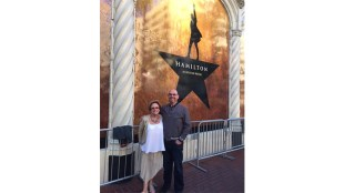 Sandy Taradash attending Hamilton with her son, Randy.