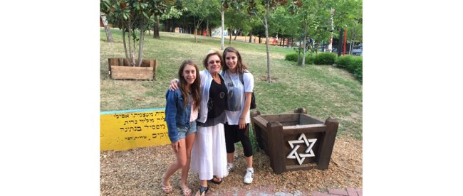 Sandy picks up her granddaughters, Kami and Ari, from Camp Newman, the Reform camp in Santa Rosa, CA.