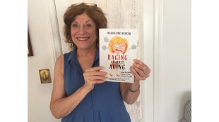 "Author Jackie Becker and her book, ""Raging against Aging."""