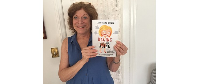Author Jackie Becker and her book,