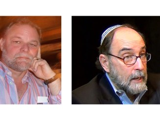 Rabbi David Levin, left, and Rabbi Simcha Raphael, guests on the 8/30/2019 Seekers of Meaning Podcast