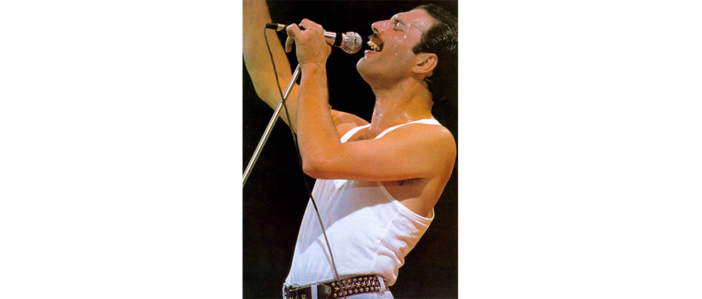 Freddie Mercury (Kentaro Takizawa photo via Flickr.com, Creative Commons 2.0 license)