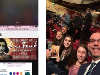 """Sandy Taradash's grandchildren and her son went to see """"Hamilton,"""" right. She'll be taking them to see """"The Diary of Anne Frank"""" this month."""