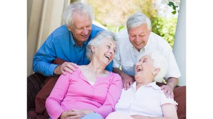 Group of seniors enjoying each others' company