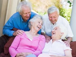 Group of seniors enjoying each others' company