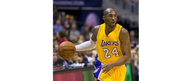 Kobe Bryant, in a Dec. 13, 2014 game against the Washington Wizards. (Alexandra Walt Photo/Flickr.com public domain photo)