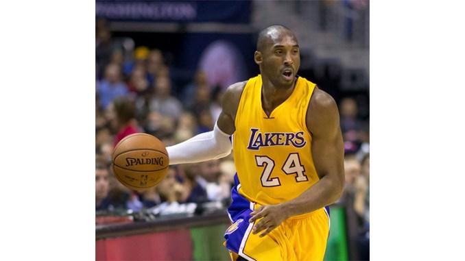 Kobe Bryant, in a Dec. 13, 2014 game against the Washington Wizards. (Alexandra Walt Photo/Flickr.com public domain photo)