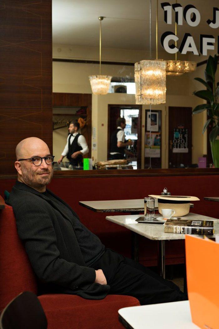 "Nino Loss at Café Korb by Ronnie Niedermeyer for Vienna's ""Wina - das jüdische Stadtmagazin"" June 2017 edition."