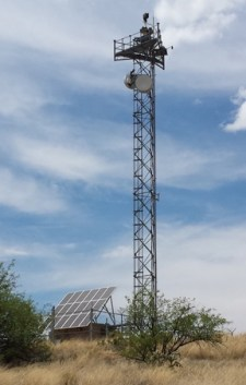 Elbit Systems tower near Sasabe, AZ, photo by Deborah Mayaan
