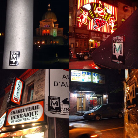 From L - R: St. Joseph's Oratory, Super Sex, Schwartz's, Fairmount Bagels