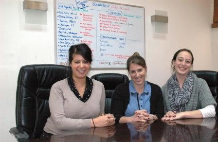 L-R: Lee-El, Shevy and Michal in the conference room