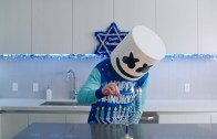 Hanukkah cooking with DJ Marshmello