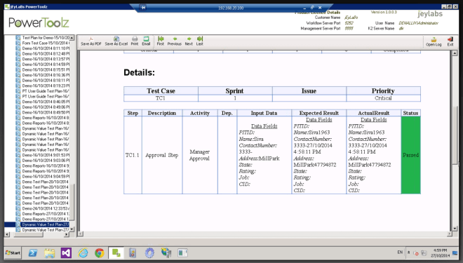 Detailed-Test Reports