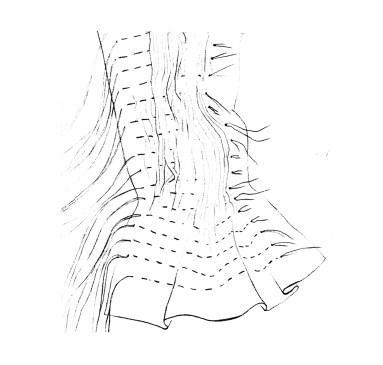 shibori couture à la main technique de teinture