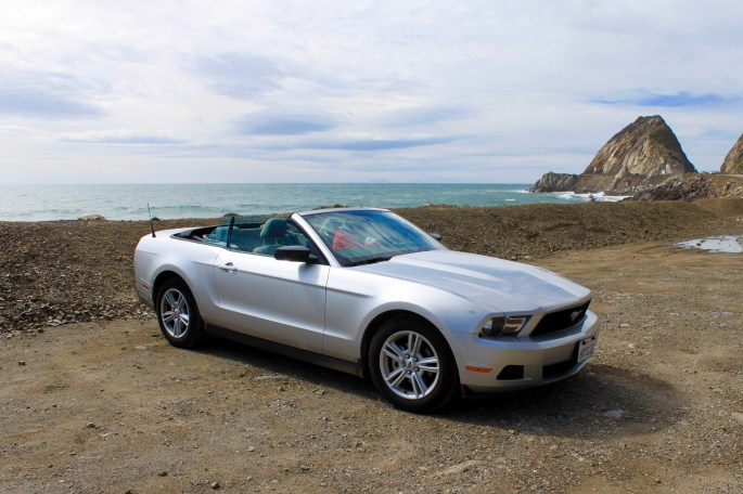 Ford Mustang Convertible on Pacific Coast Highway by Jez Braithwaite