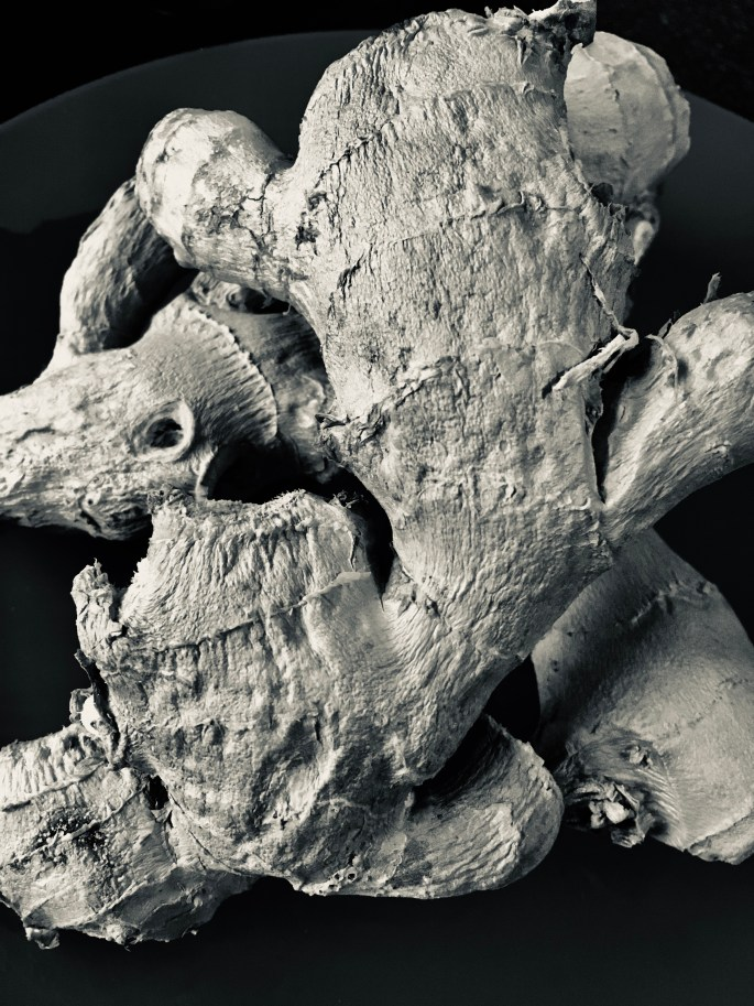 Ginger root in silvertone by Jez Braithwaite