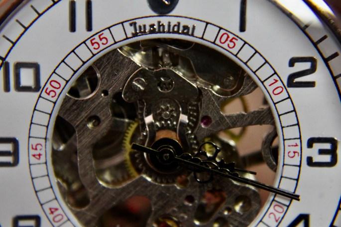 Skeleton pocket watch
