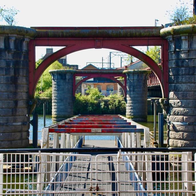 Old bridge supports