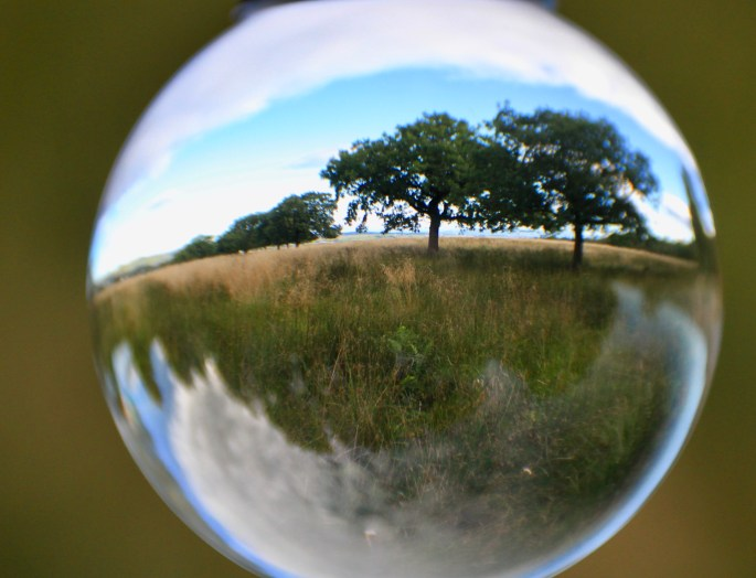 Palacerigg Country Park in a lensball