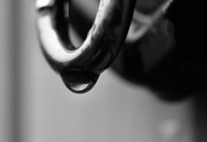 Water droplet on a karabiner