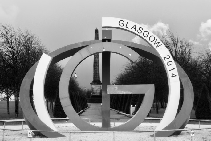 Sculpture in Glasgow Green