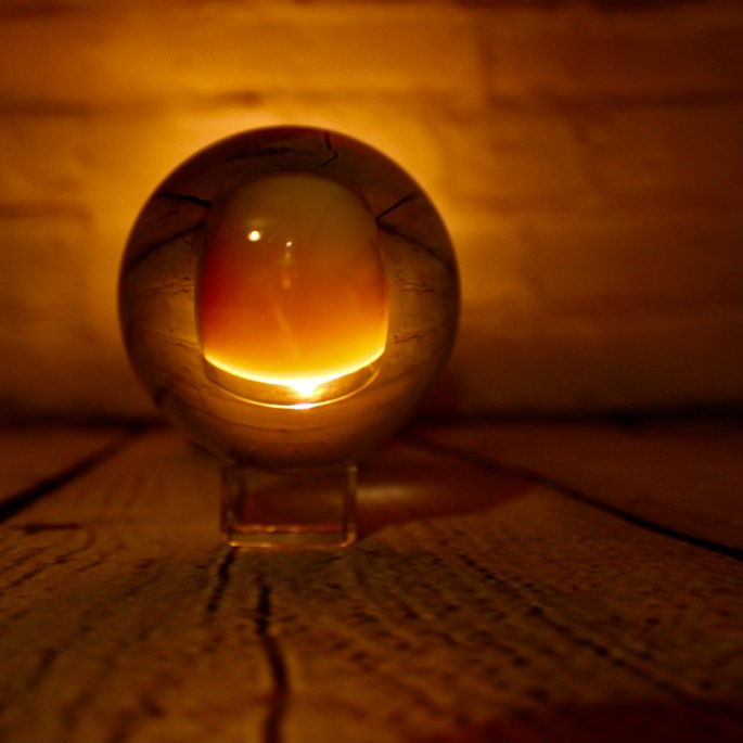 Candle in a lensball