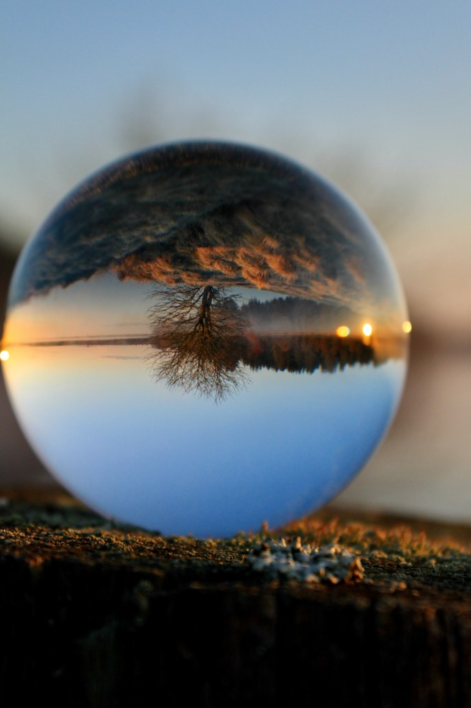 Fannyside Lochs in a lensball
