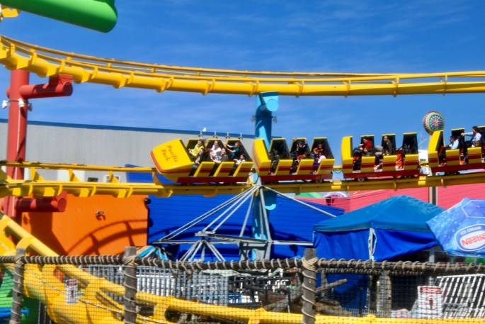 Rollercoaster at Santa Monica Pier