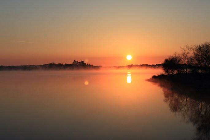 Sunrise over Fannyside Lochs