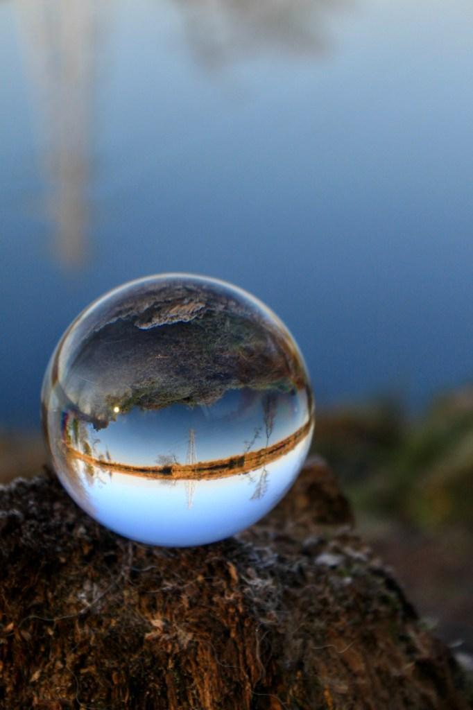 Lochan reflection in a lensball