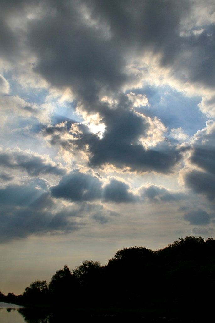 Sunbeams over the canal