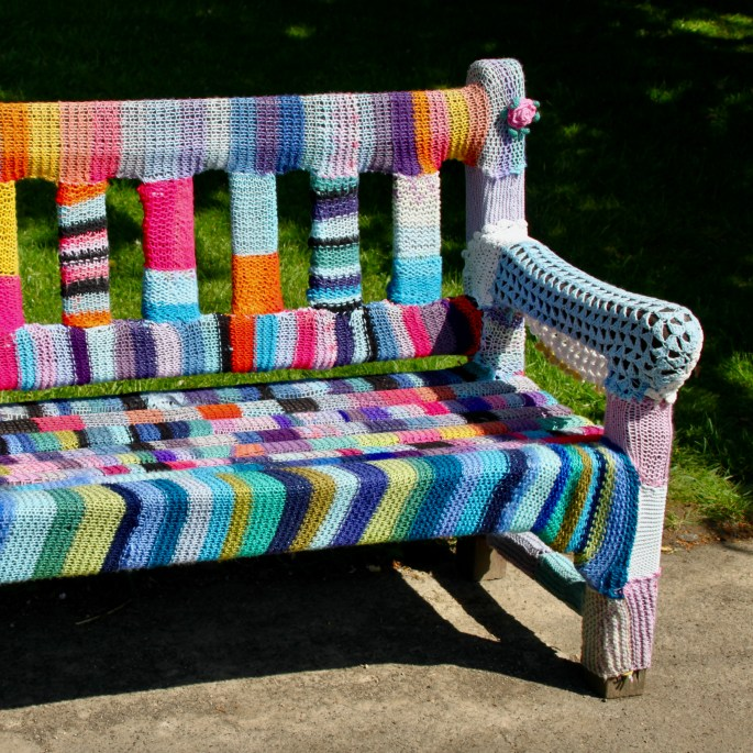 Yarn covered bench